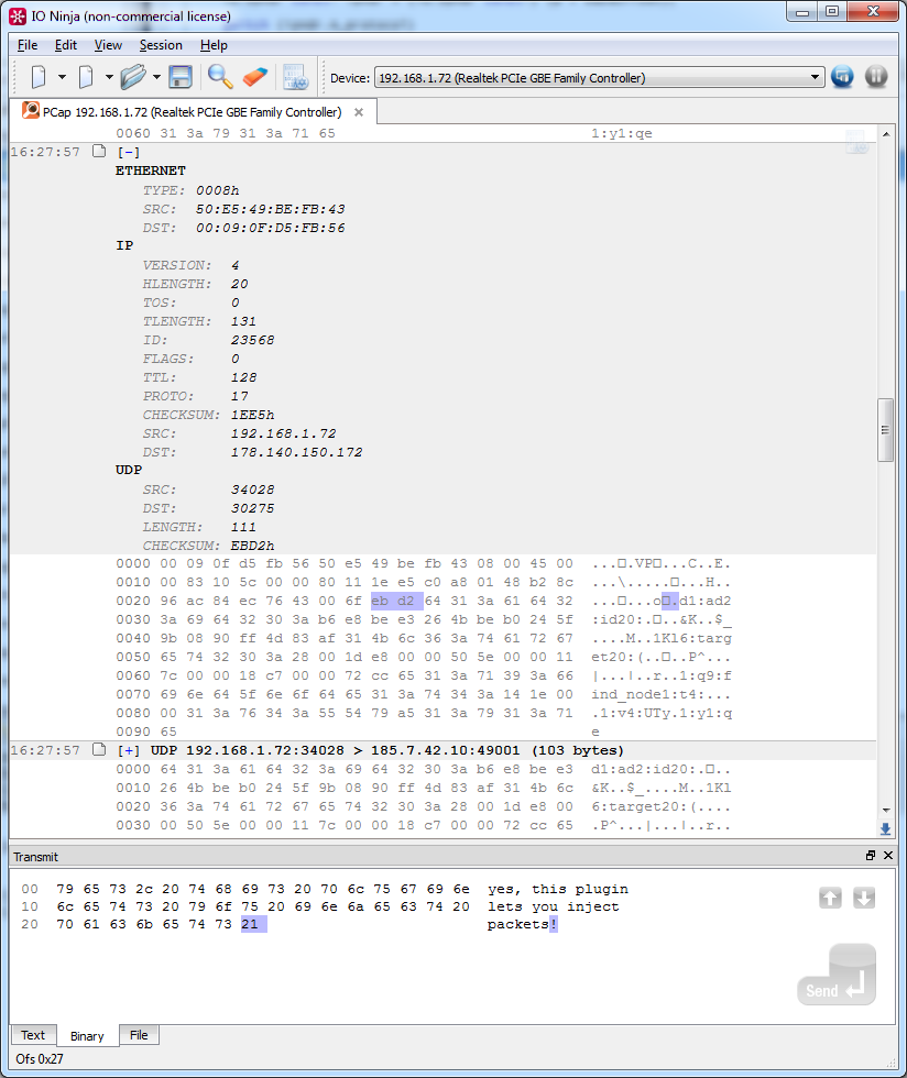 Network Sniffer | IP Sniffer - IO Ninja