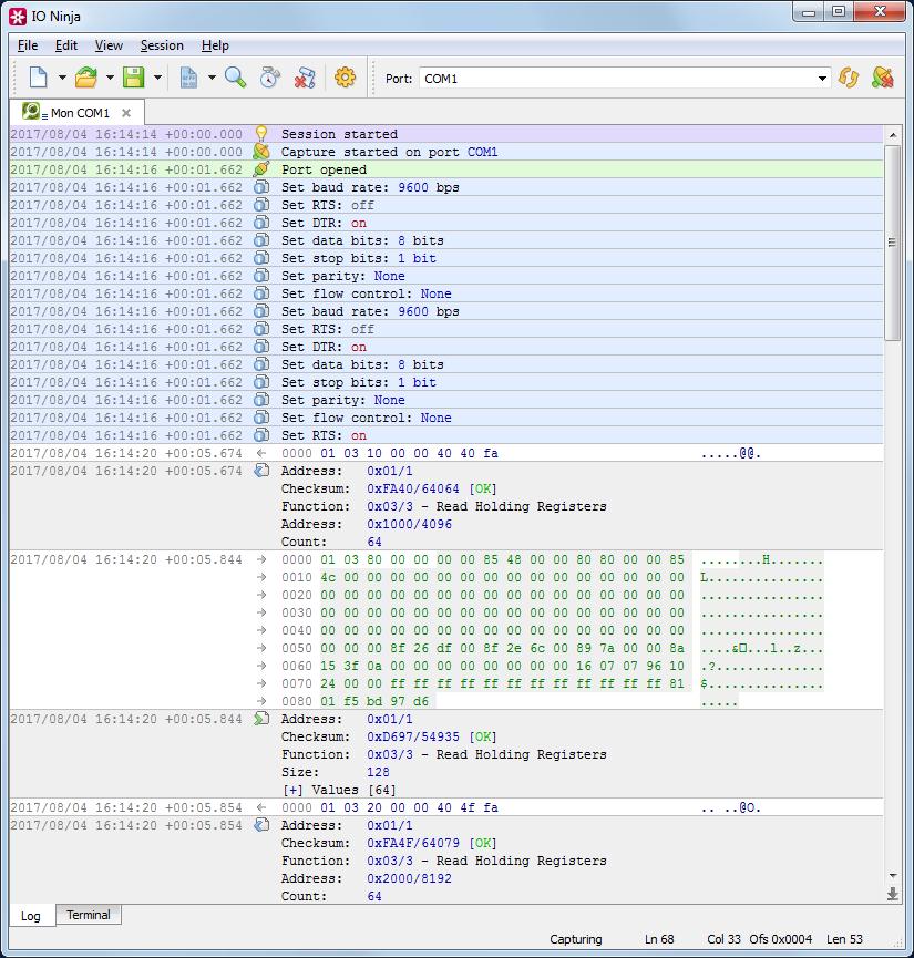 ModBus Analyzer   Serial ModBus   TCP ModBus - IO Ninja